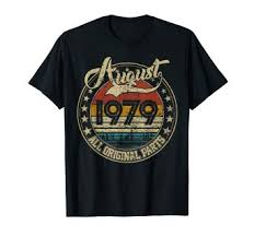 <b>Classic</b> 40th birthday gift for <b>Men women</b> Vintage August 1979 <b>T</b>-Shirt