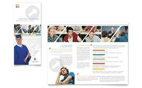College Templates College University Brochure Template Word Publisher