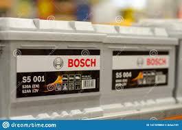 Kyiv Ukraine April 20 2018 Bosch Car Battery Editorial