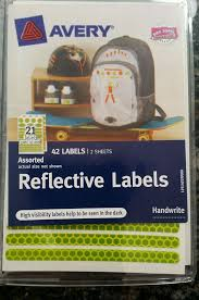 Safety Reflective Labels Yellow Green And Orange 42 Stickers