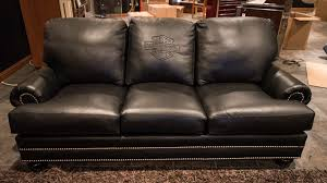 Harley Davidson Leather Couch And 2 Leather Chairs K86