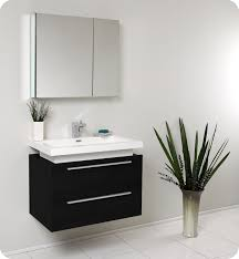 modern bathroom furniture cabinets. fresca medio black bathroom vanity w two drawers and white acrylic modern furniture cabinets n