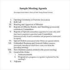 Sample Agendas For Board Meetings Sample Board Meeting Agenda Template 11 Free Documents In Pdf Word