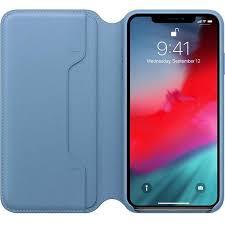apple apple leather folio case for iphone xs max cape cod blue ato cayman mac t a alphasoft