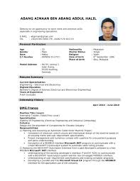 Example Resume For A Job Job Resume Examples How To Write Resume For Job 60 A Application 2