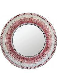 round mosaic wall mirror in shades
