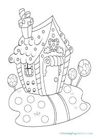 Gingerbread House Coloring Special Offer Gingerbread House Coloring