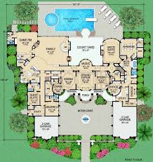 mansion house plans. Delighful Plans Luxury Style House Plans  9253 Square Foot Home  2 Story 4 Bedroom And 5  Bath Garage Stalls By Monster Plan 63309 And Mansion E