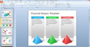 microsoft powerpoint slideshow templates free pyramid powerpoint shapes template