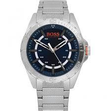 shop men s boss orange 1513220 watch british watch company hugo boss orange men 039 s berlin silver tone bracelet watch