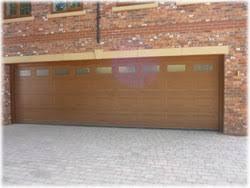 wood double garage door. Carteck Double Sectional Garage Door Wood