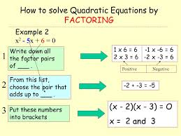 how to solve quadratic equations by factoring