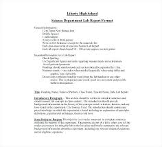 Lovely Biology Lab Report Template High School Reports