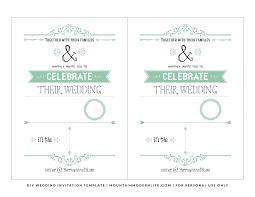 Invitation Layout Free Free Wedding Invitation Template Mountainmodernlife Com