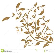 Vine Pattern Inspiration Leaves And Vines Pattern Stock Illustration Illustration Of