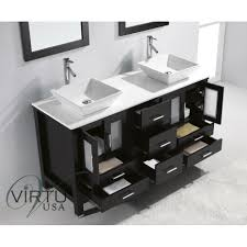 Virtu USA MD 4305 S ES Bradford 60 Double Sink Bathroom Vanity in