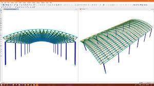 Steel Arch Truss Design Curved Roof Truss Barrel Roof Truss Modeling In Sap2000