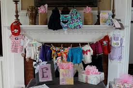 Baby Shower Clothesline With Fireplace