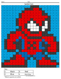 Spiderman Coloring Squared Page