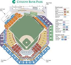 Phillies Field Seating Chart Phillies Seat Chart Citizen Bank Park Citizens Bank Park