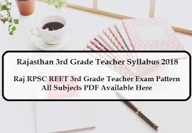 Teacher Syllabus Rajasthan 3rd Grade Teacher Syllabus 2018 Exam Pattern Of Raj Reet