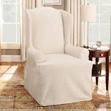 Slipcovers Living Room Chairs Twill Supreme Wing Back Chair Slipcover 100 Percent Cotton
