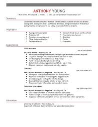 Resume For Office Job Example Resumes Examples Of Resumes For Office
