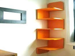 wall mounted corner shelf bookshelf modern shelves large mount unit zigzag shape