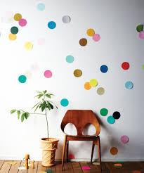 decorating polkadot paper wall decor ideas diy paper art
