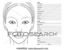 Female Face Chart Clipart K48490335 Fotosearch
