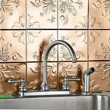 Metal Kitchen Wall Tiles Unique Kitchen Ideas With Brown Wall Art Metal Peel Stick Wall
