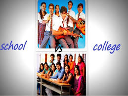 comparison between school life and college life
