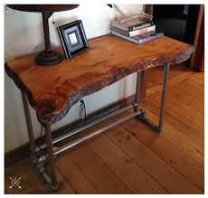 wooden desk ideas. live edge wood slab desk by borninabarntables on etsy wooden ideas