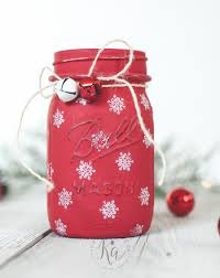 Decorated Jam Jars For Christmas Mason Jar Christmas Decorating Ideas Clean And Scentsible 37