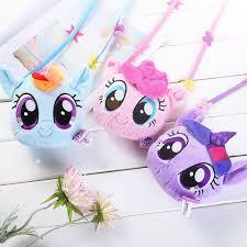 New pony bao li children's purse <b>2019</b> My little pony <b>plush backpack</b> ...