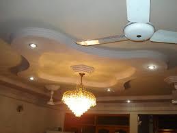 Pop Ceiling Design For Living Room Modern False Bedroom Designs Ceiling Pop With White Fan On Plafond