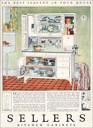 this kitchen cabinet was one of the many kitchen organizing centers that had become extremely popular in the first couple decades of the 20th century