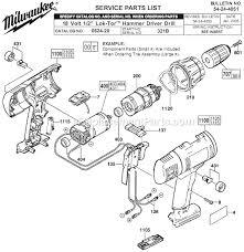 cordless drill diagram. milwaukee 0624-20 parts list and diagram - (ser 321b) : ereplacementparts.com cordless drill