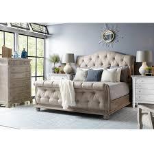 Vantage Summer Creek 4 Piece King Bed Set in Scrubbed Oak   Nebraska ...