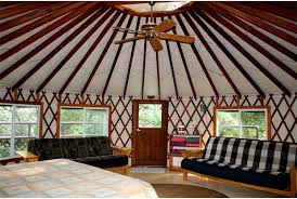 ... Yurt; Magical Geometry Of Living In The Round, Note Circular Center  Skylight ...