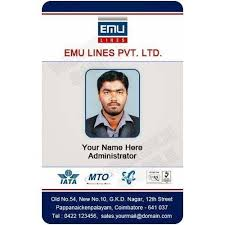 Double Card Plastic Id Sided Id Square 13949711991 piece Rs 35 Employee