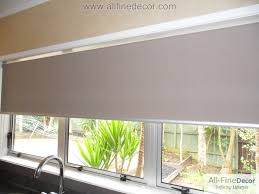 Roller Blinds For Kitchens Blinds For Kitchen Sheer White Kitchen Roller Blinds Make The
