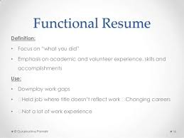 Functional Resume Builder Fascinating Work Resume Definition Demireagdiffusion