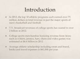 why college should be essay college athletes should get college athletes should be paid