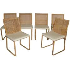 Rare Harvey Probber Woven Rattan Dining Chairs Furniture Custom Woven Dining Room Chairs