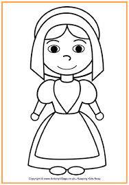 Small Picture Pilgrim Girl Colouring Page Thanksgiving Colouring Pages for Kids