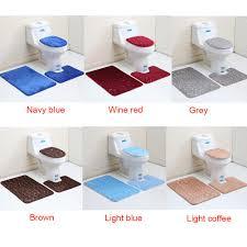 3pcs 2pcs set bathroom non slip pedestal rug lid toilet cover bath
