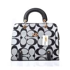 Coach Borough Logo Medium Grey Satchels  bags  coach  handbags