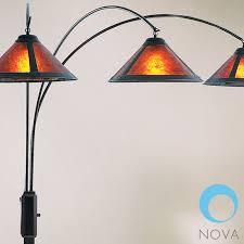 mica shade floor lamp nova 3 light arc 13