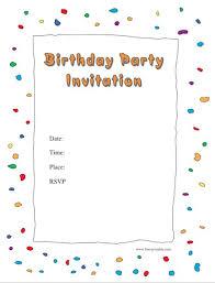 Party Templates Birthday Party Invites Templates 40 Free Birthday Party Invitation